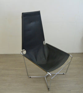 Fauteuil Leather Lounge Chair by Harvink, 1970s