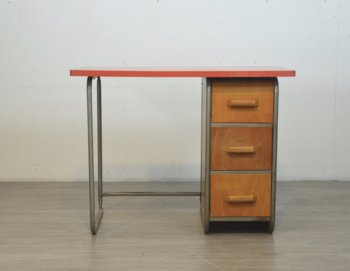 Tubular Plywood Desk, 1950s
