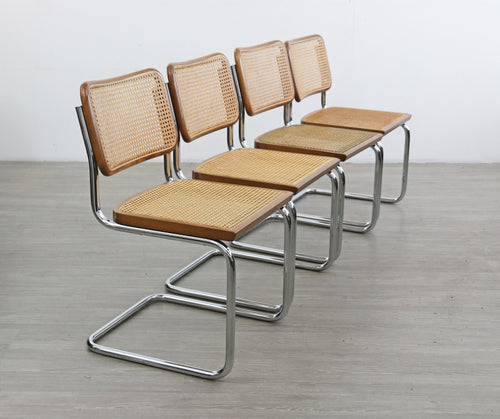 Set of 4 Brown Breuer Style Cesca Chairs
