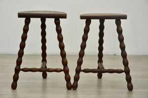 Pair of Bobbin Turned Stools