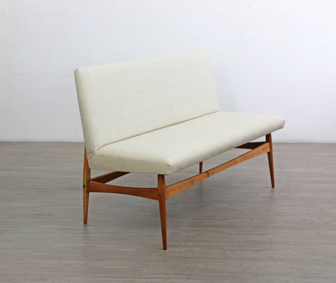 Upholstered Mid-Century Sofa