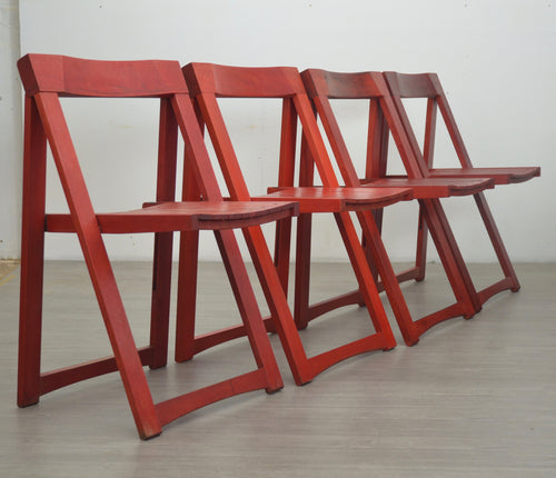 Set of Four Folding Chairs by Aldo Jacober, 1970s