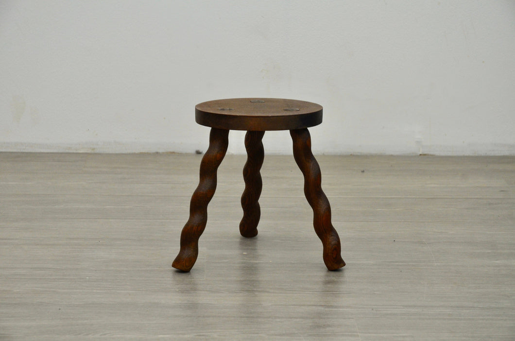 Wavey Milking Stool, Mid Century