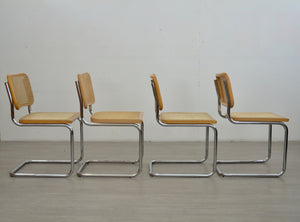 Set of Four Cesca Style Cantilevered Chairs