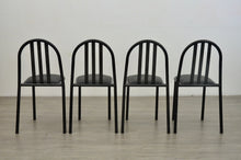 Load image into Gallery viewer, Set of Four Black Dining Chairs by Robert Mallet Stevens