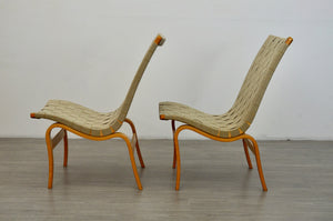 Pair of Eva chairs by Bruno Mathsson