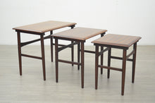Load image into Gallery viewer, Nest of Tables in Teak & Rosewood