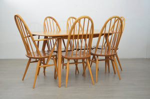 Mid Century Dining Table & 6 Chairs by Ercol