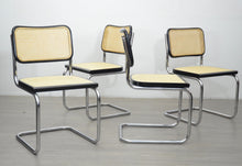 Load image into Gallery viewer, Set of Four Black Cesca Style Chairs