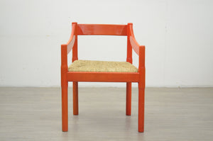 Red Carver Carimate Chair by Vico Magistretti