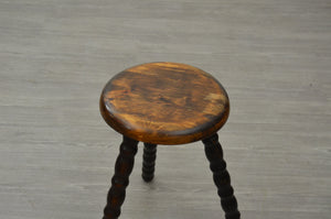 Turned Wooden Milking Stool
