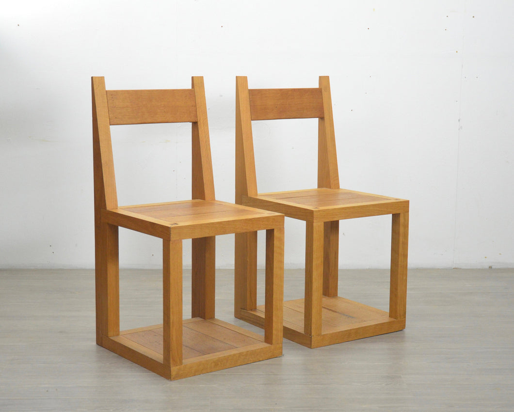 Pair of Modernist Oak Chairs