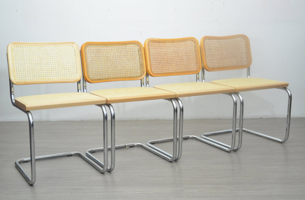 Set of Four Blonde Cesca Style Chairs