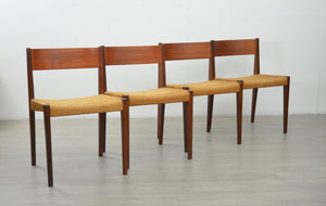 Set of Four 'Pia' Chairs by Poul Cadovius