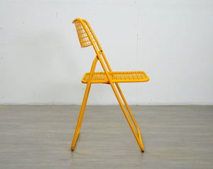 Ted Net Yellow Wire Chair by Niels Gammelgaard, 1980s