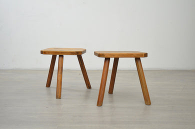 Pair of Primitive French Stools