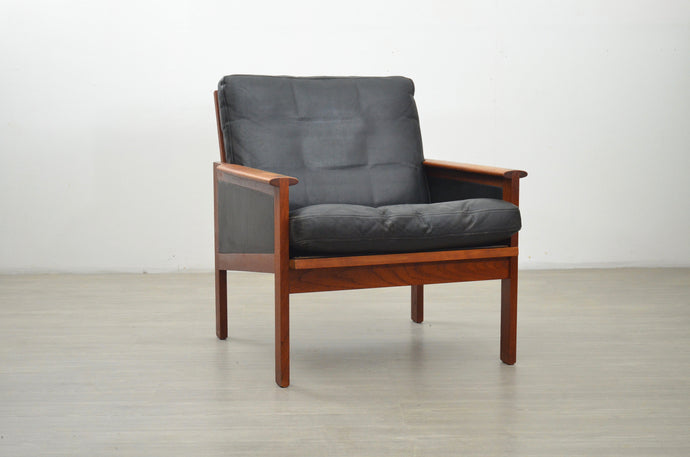 Danish Teak and Leather Lounge Chair by Illum Wikkelsø, 1950s