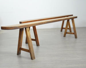 Pair of Rustic French Benches.