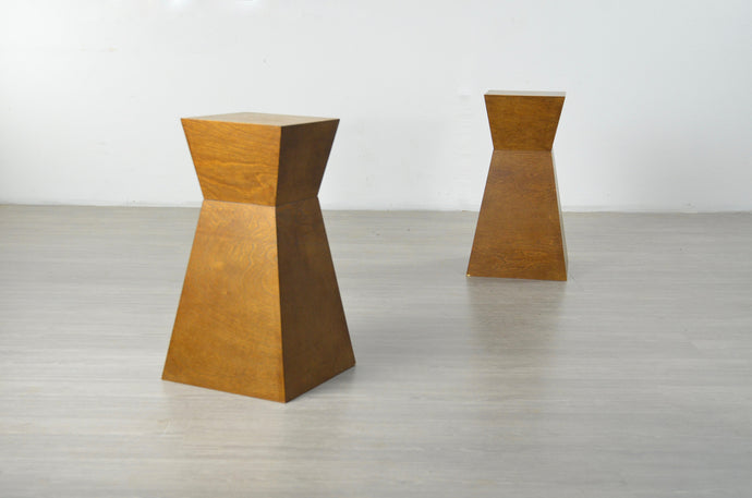 Pair of Wooden Plinths or Side Tables