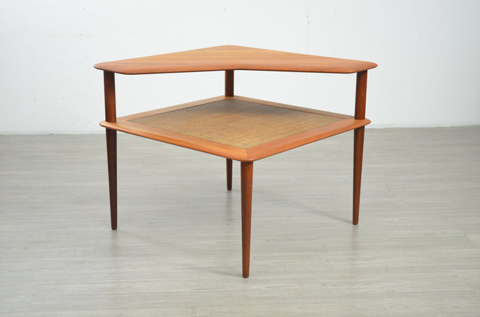 Mid Century Corner Table by Peter Hvidt and Orla Mølgaard-Nielsen for France & Søn