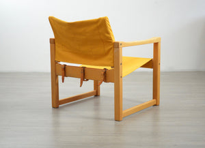 Mid Century 'Diana' Safari Chair in Mustard by Karin Mobring for IKEA, 1970s