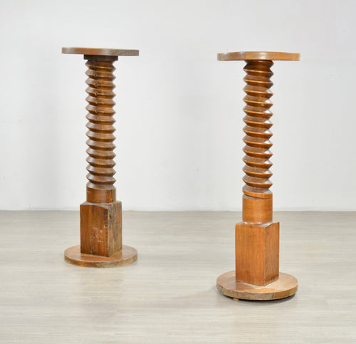 A Pair of Early 20th C French Side Tables or Pedestals