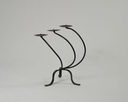 Curved Metal candelabra