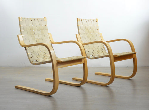 A Pair of 406 Birch Chairs by Alvar Aalto