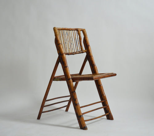 Folding English Bamboo Chair