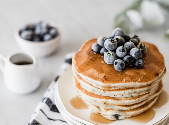 Fluffy Olive Oil Pancakes