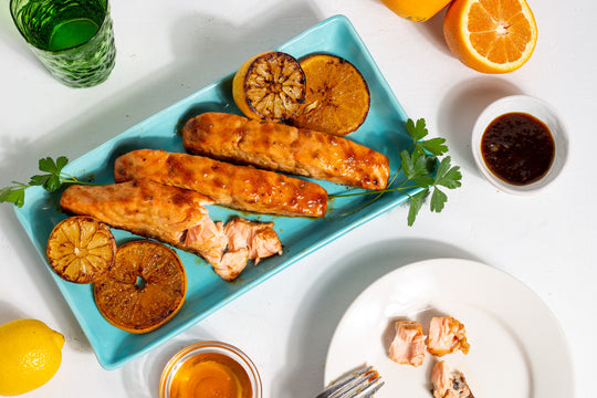 honey citrus glazed salmon