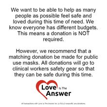 Load image into Gallery viewer, Disposable KN95 Mask - Equivalent to N95 Masks - Love Is The Answer Charity