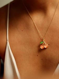 CHERRY NECKLACE (GOLD PLATED)