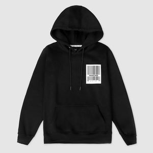 Privé Alliance Women's Barcode Hoodie Black