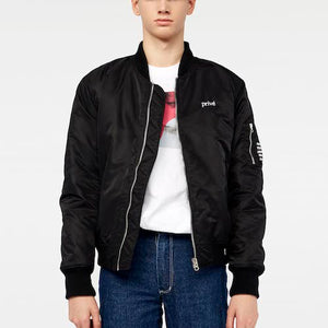 Privé Alliance Men's Flight Bomber Jacket Black