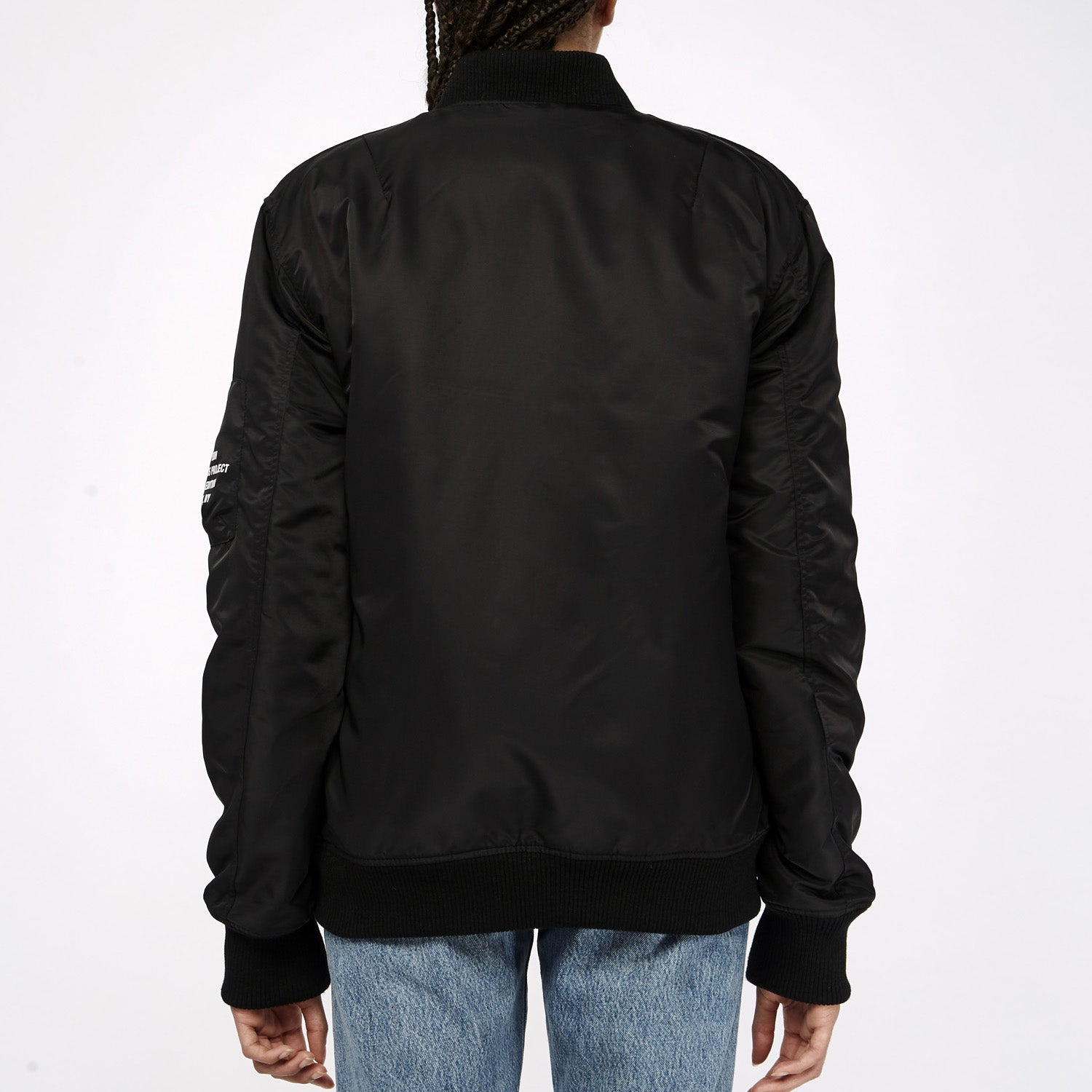 Privé Alliance Women's Flight Bomber Jacket Black