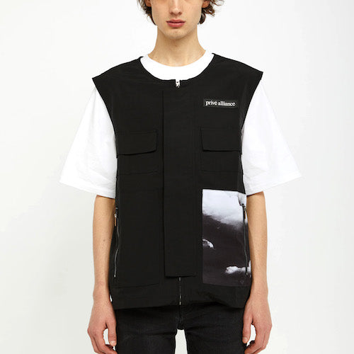 "Privé Alliance Men's ""Departure"" Vest Black"