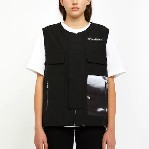 Privé Alliance Women's Departure Utility Vest Black