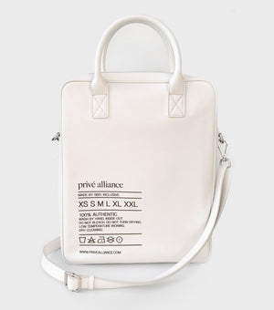 Privé Alliance Authentic White Messenger Bag