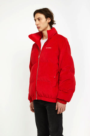 Privé Alliance Men's Unfinished Down Jacket Crimson Red