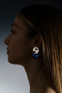 Cosmic Earrings Sapphire