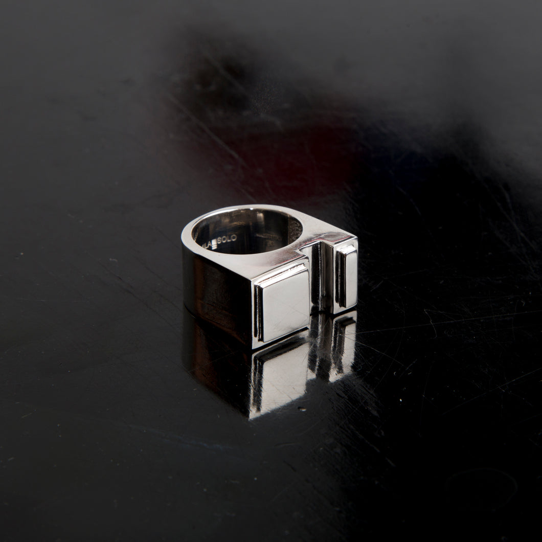 Concrete Ring N_01 Silver