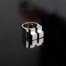 Load image into Gallery viewer, Concrete Ring N_02 Silver