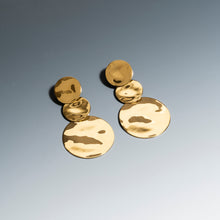 Load image into Gallery viewer, Lunar Long Earrings Gold