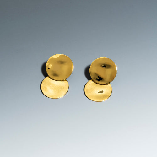 Lunar Eclipse Earrings Gold