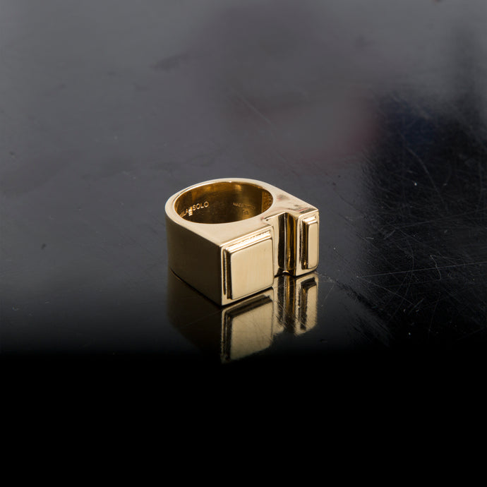 Concrete Ring N_01 Gold