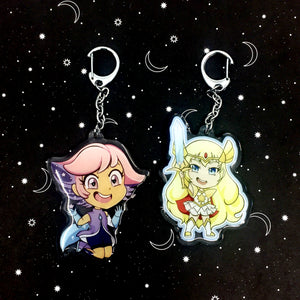She-Ra and Glimmer Double Sided Keychains