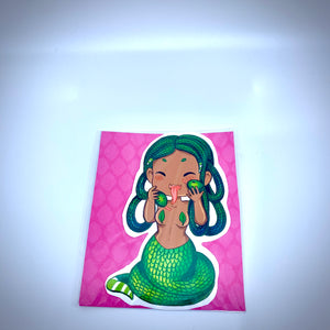 New Medusa Snake Girl Vinyl Sticker