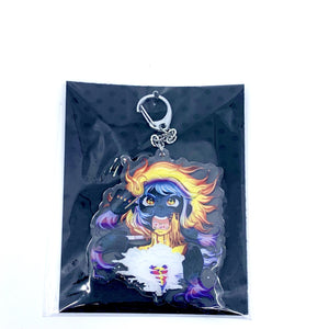Anger Double Sided Key Chain