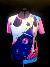 Load image into Gallery viewer, Oh Blue Demon Girl All Over Print T-shirt